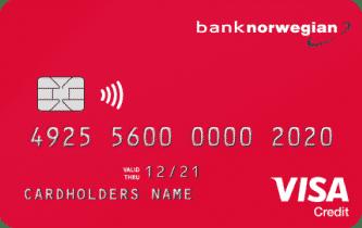 En bild på Norwegians kreditkort. Ett av dom bättre korten för travel hacking.