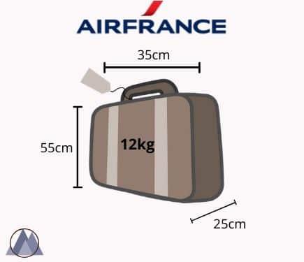 air france handbagage mått