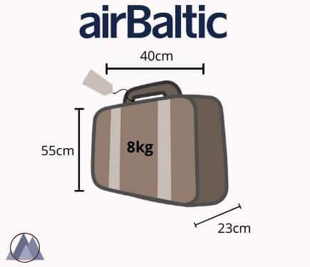 airbaltic handbagage mått och vikt