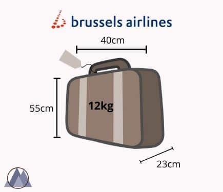 brussels airlines handbagage mått och vikt