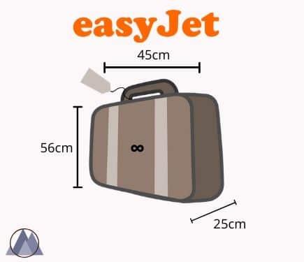 easy jet handbagage mått och vikt