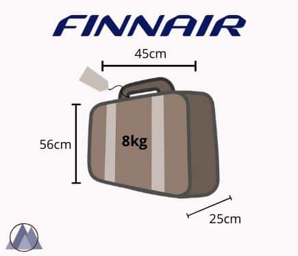finnair handbagage mått och vikt