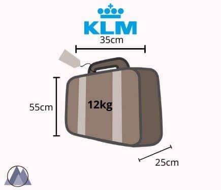 klm handbagage mått och vikt