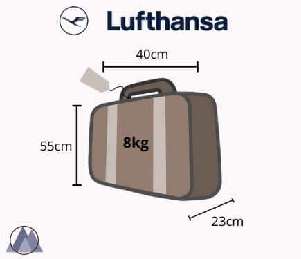 lufthansa handbagage mått och vikt