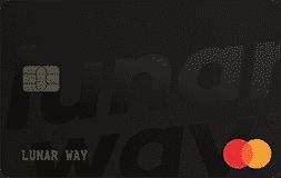 En bild på lunarways betalkort. Ett av dom bättre korten för travel hacking.