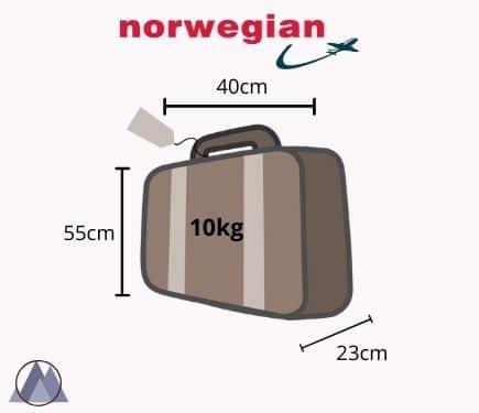 vikt väska köpa till norwegian