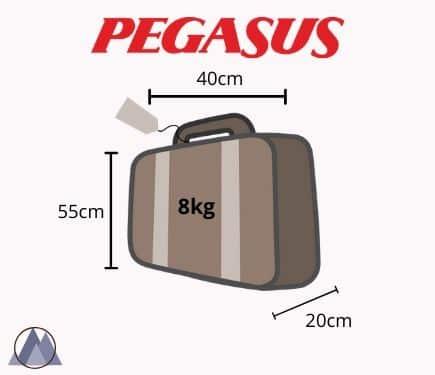 pegasus handbagage mått och vikt