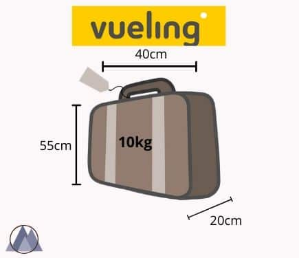 vueling handbagage mått och vikt
