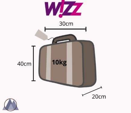 wizzair handbagage mått och vikt