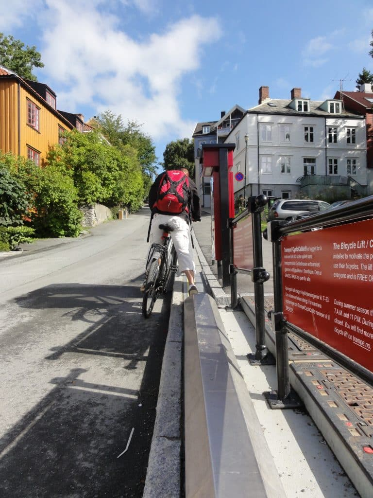 Trondheims sevärdheter trampe cykellift
