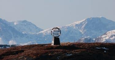 Staty markerar polcirkeln i Norge
